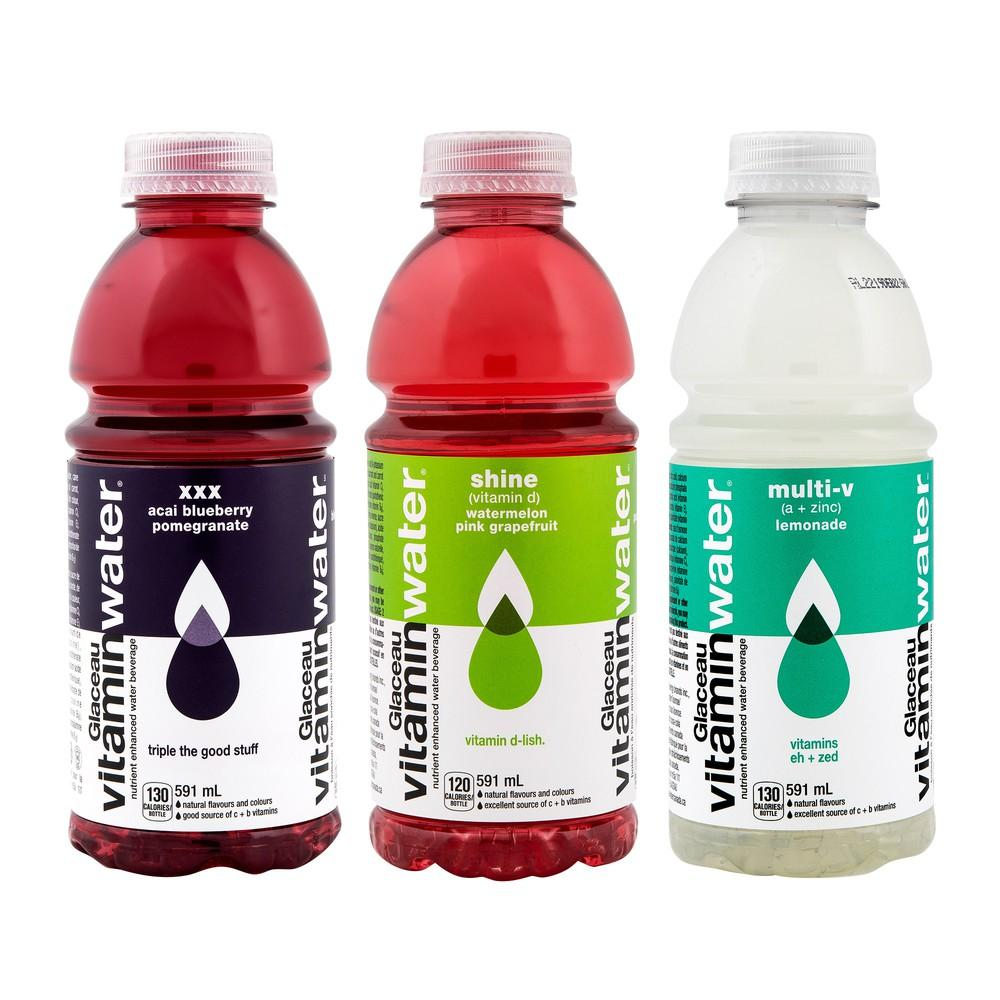 bah>Glaceau Vitamin Water Assorted Flavors, litre