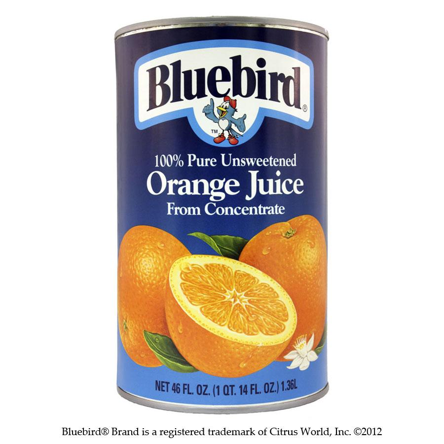 bah>Bluebird Orange Juice, 1.36 litre
