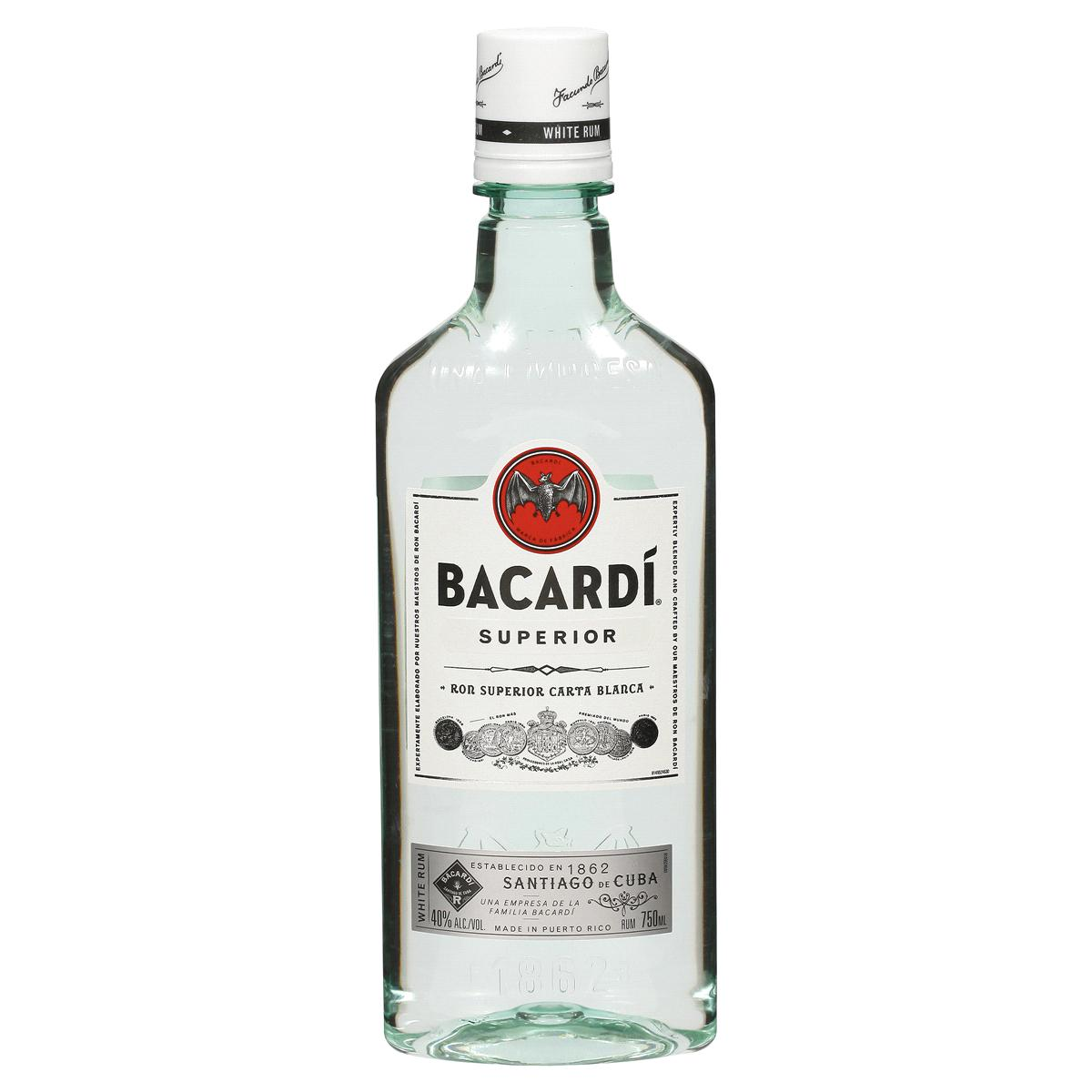 bah>Bacardi White Rum, 750ml