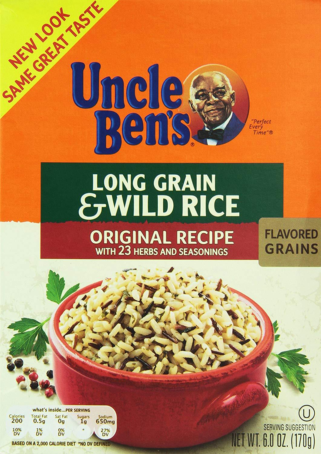 bah>Uncle Ben's Long Grain and Wild Rice, 6oz (177g)