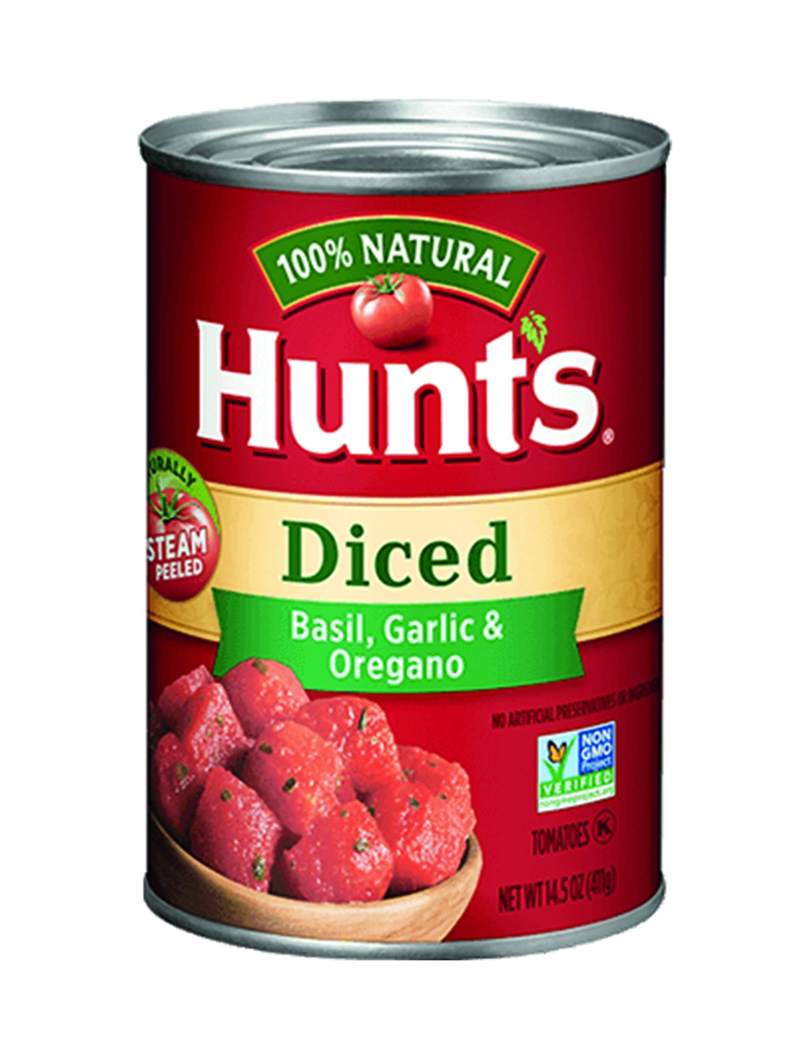 bah>Hunt's Diced Tomatoes Basil, Garlic, Oregano, 14.5oz