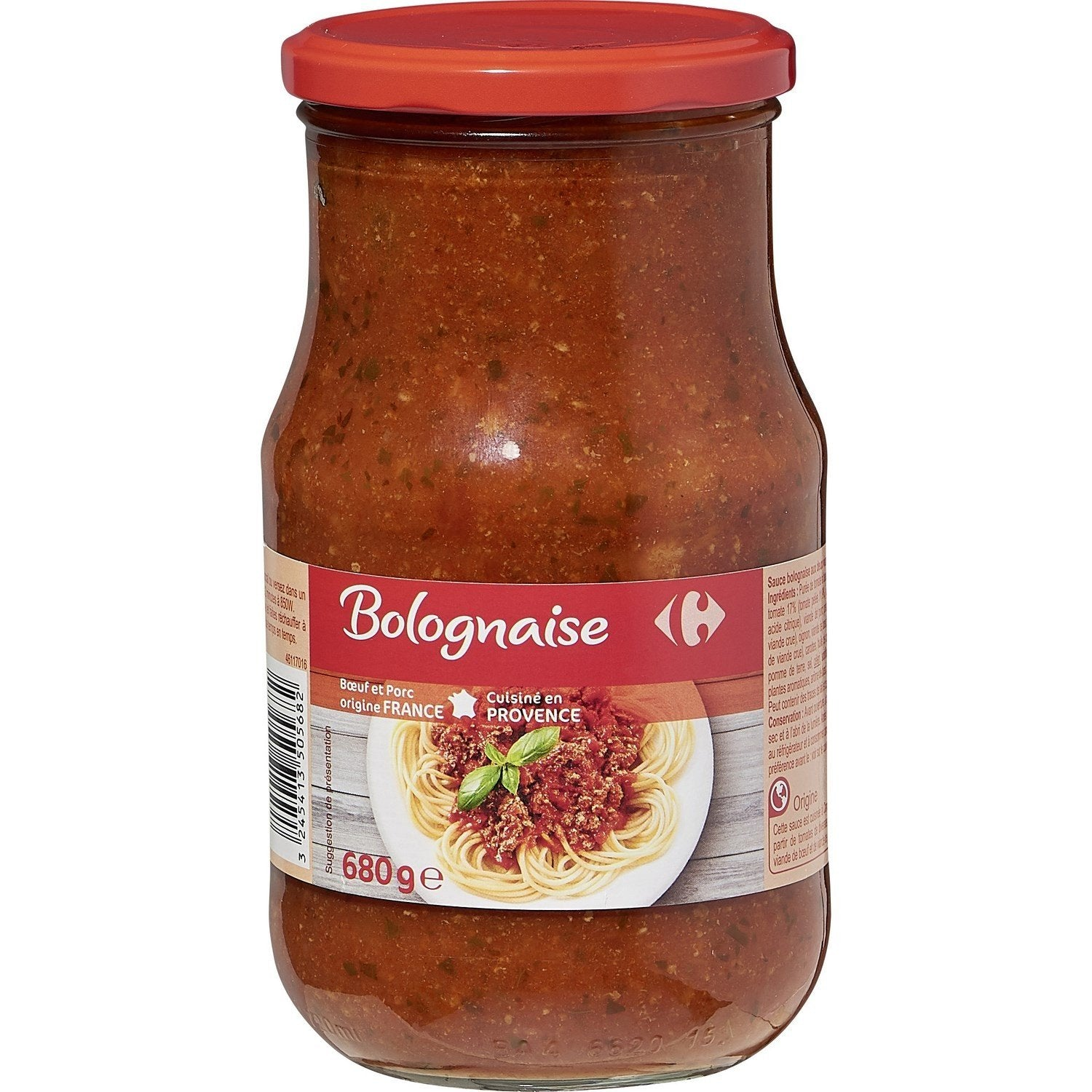 stm>Tomato Meat Sauce Bolognese, Carrefour 680gr