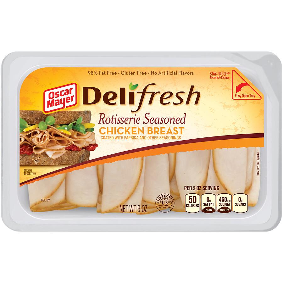 stm>Oscar Mayer Deli Shaved Chicken Breast, sliced 9oz