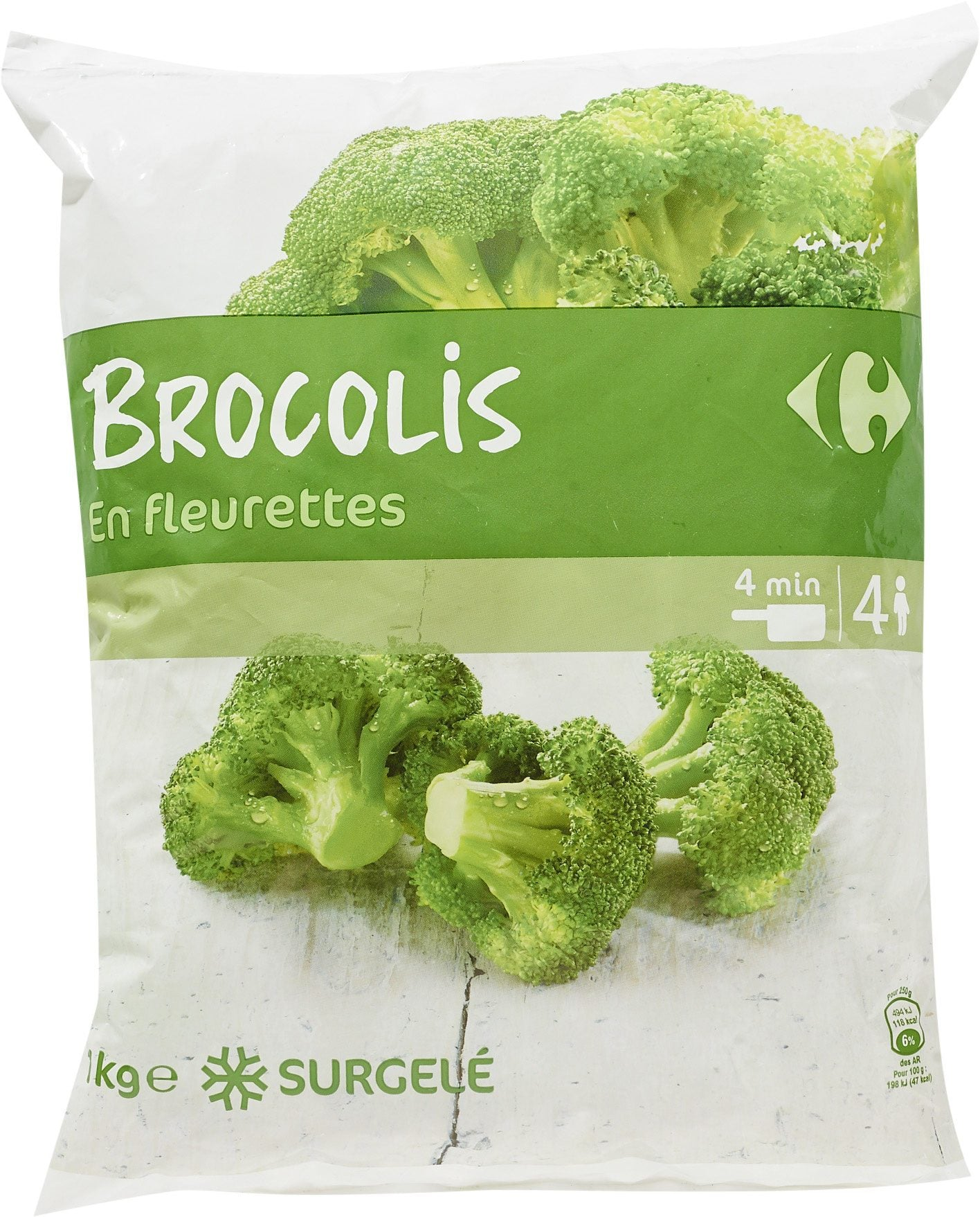 stm>Broccolli, Carrefour 1kg, frozen