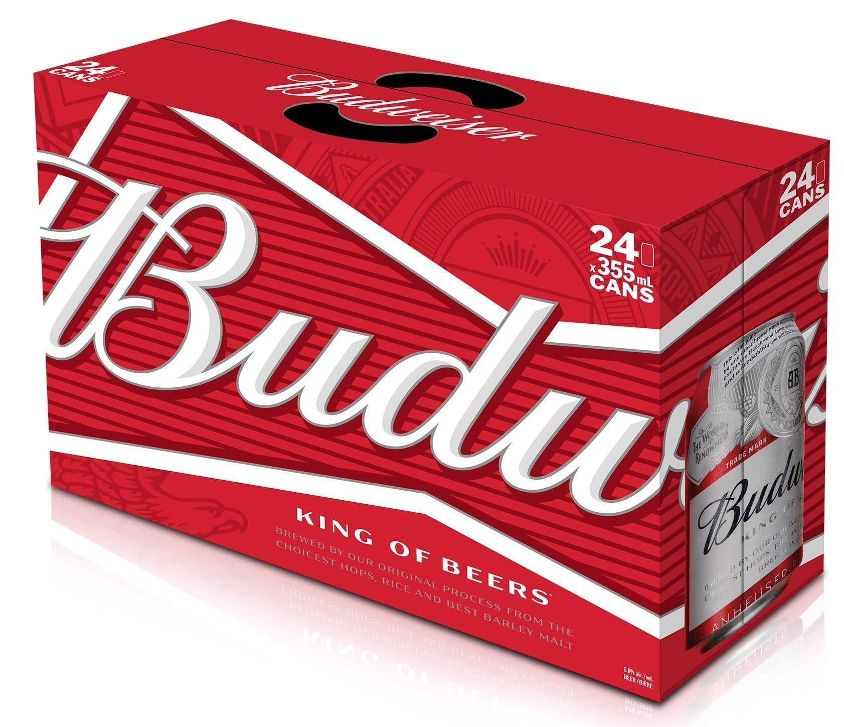 stm>Budweiser Beer, 24 pack 33cl