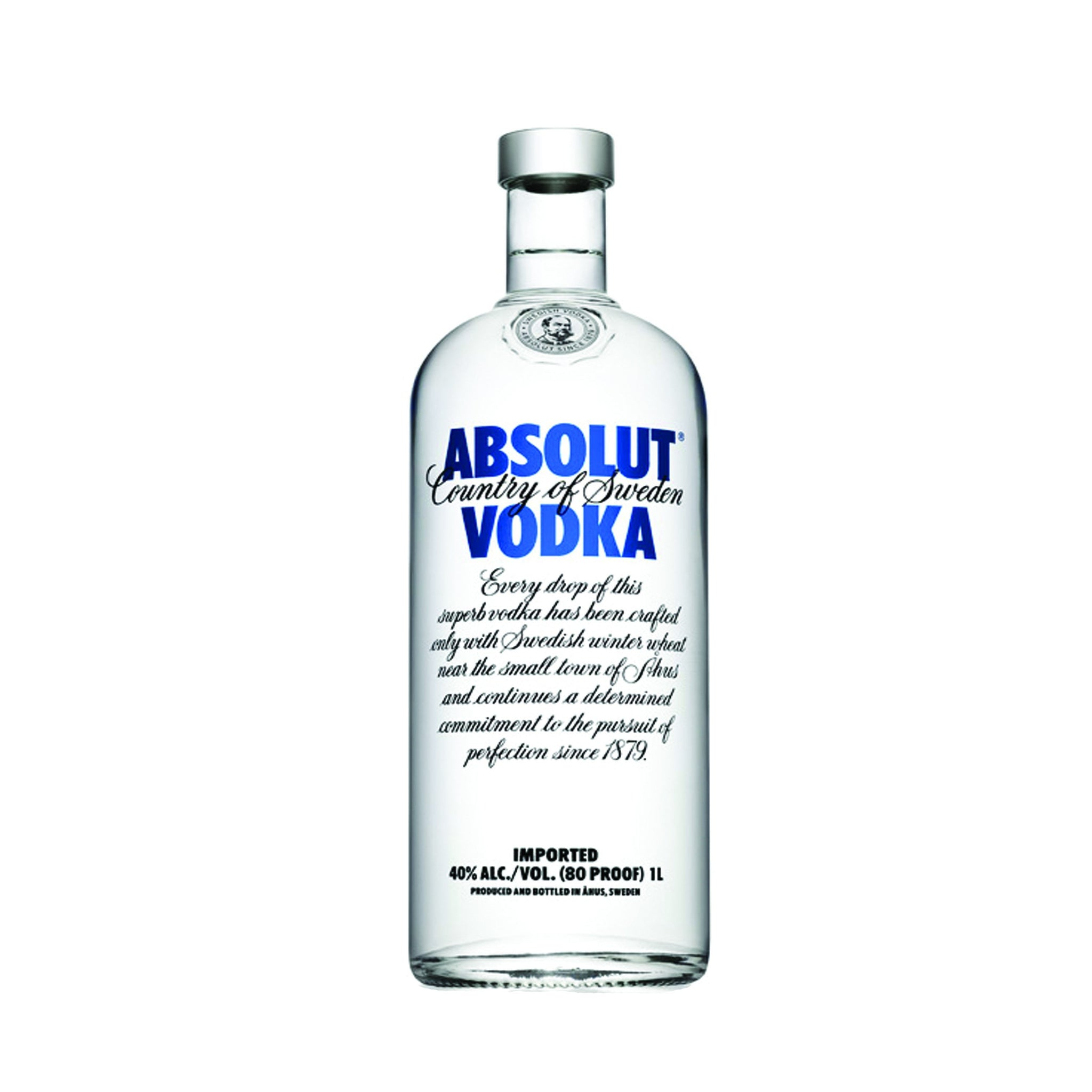 stm>Absolut Vodka, 80% Proof 1 ltr