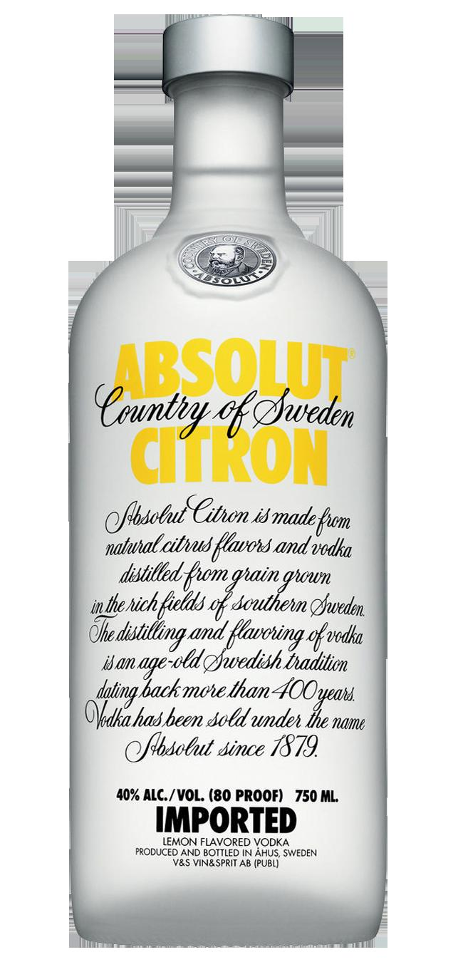 stl>Absolut Citron Vodka - 750 ml