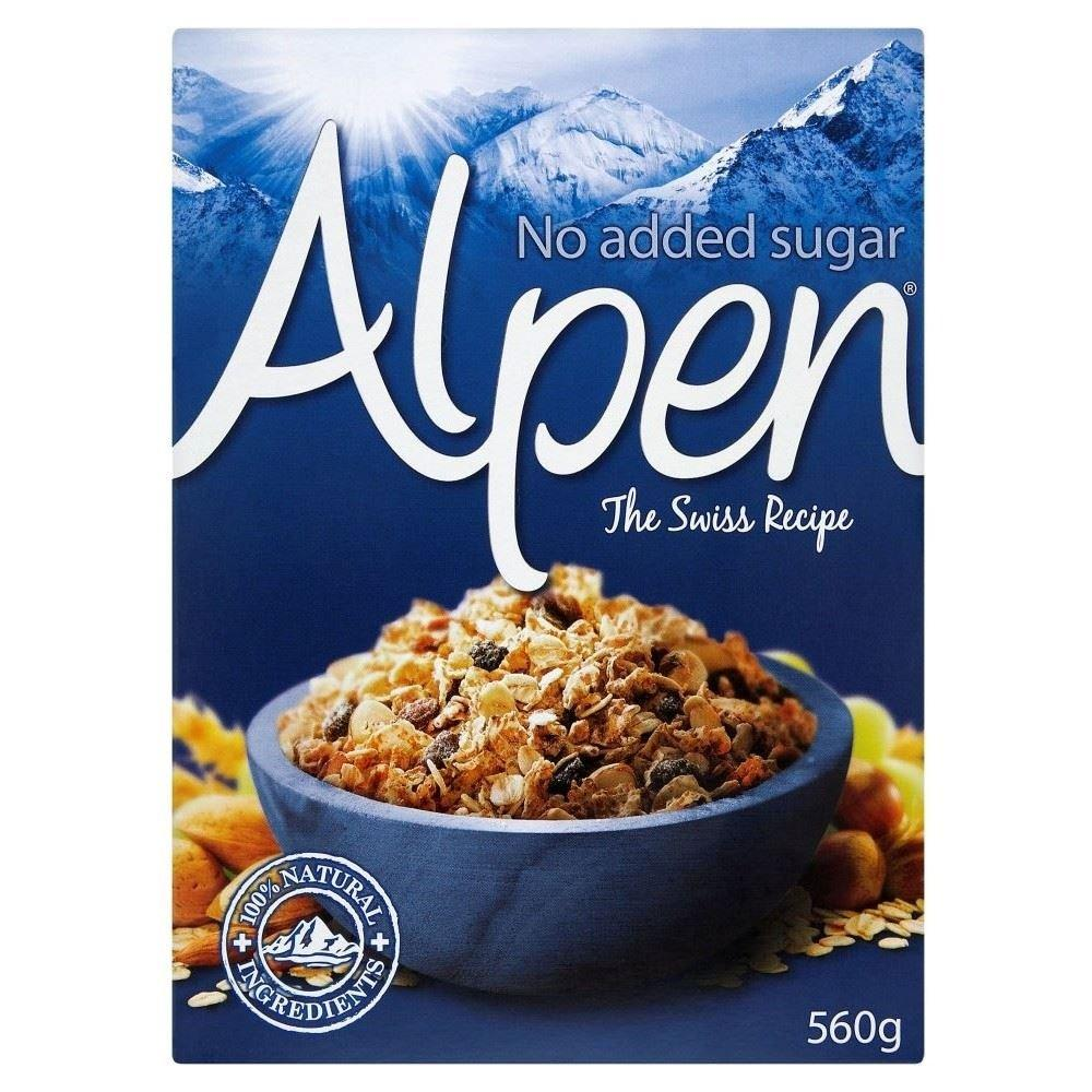 gre>Alpen Muesli No Sugar -1 Box - 560g