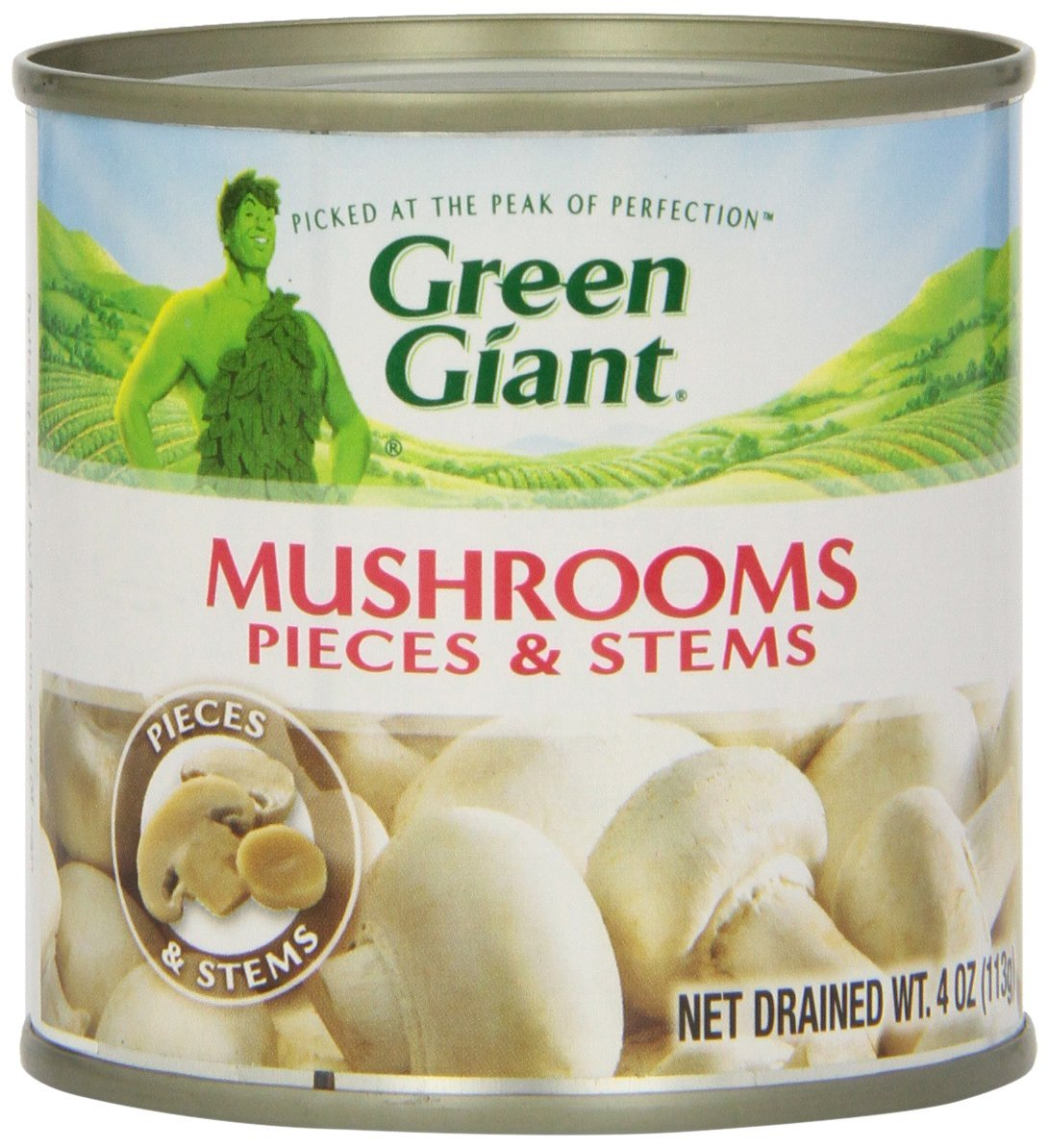 gre>Mushroom, Pieces And Stems - Green Giant Canned -14oz