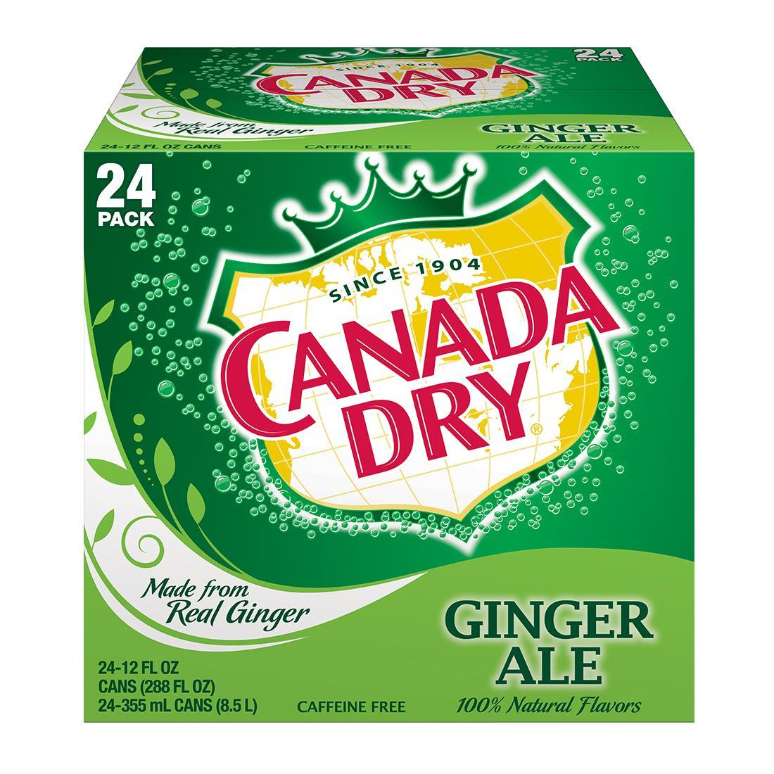gre>Canada dry - Ginger Ale - 24 Pack - cans