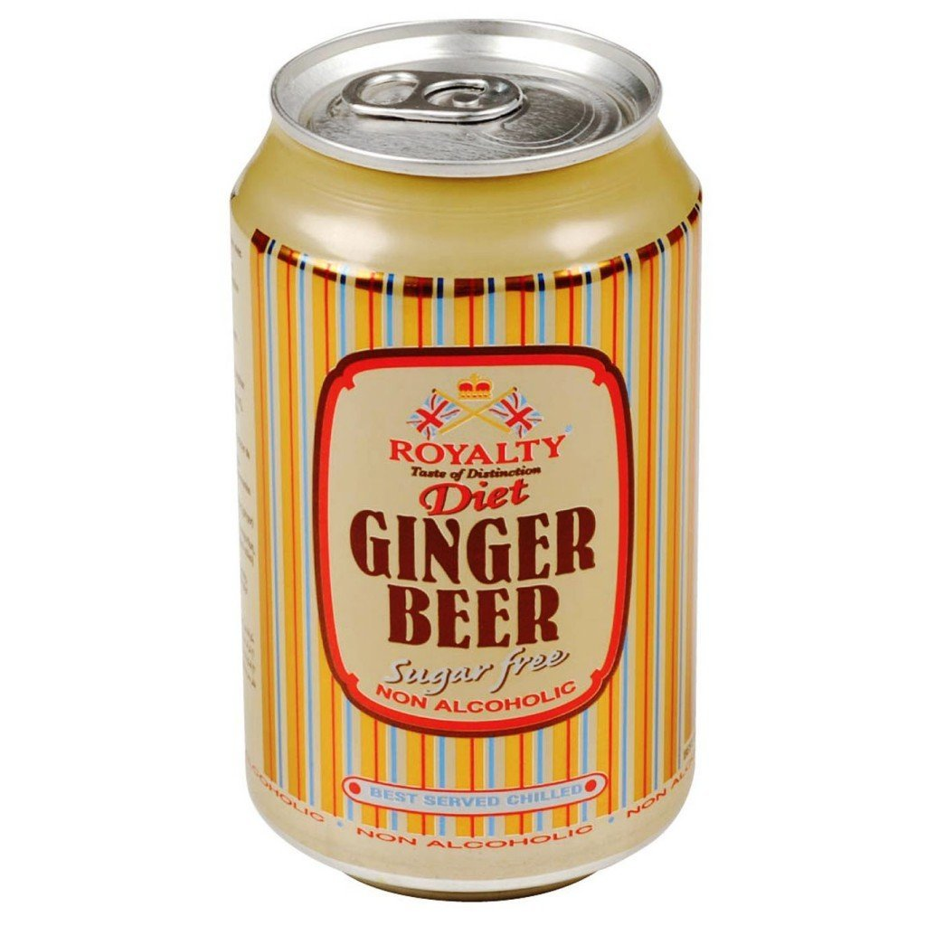 gre>Royalty Ginger Beer - 6 Pack - Diet - cans