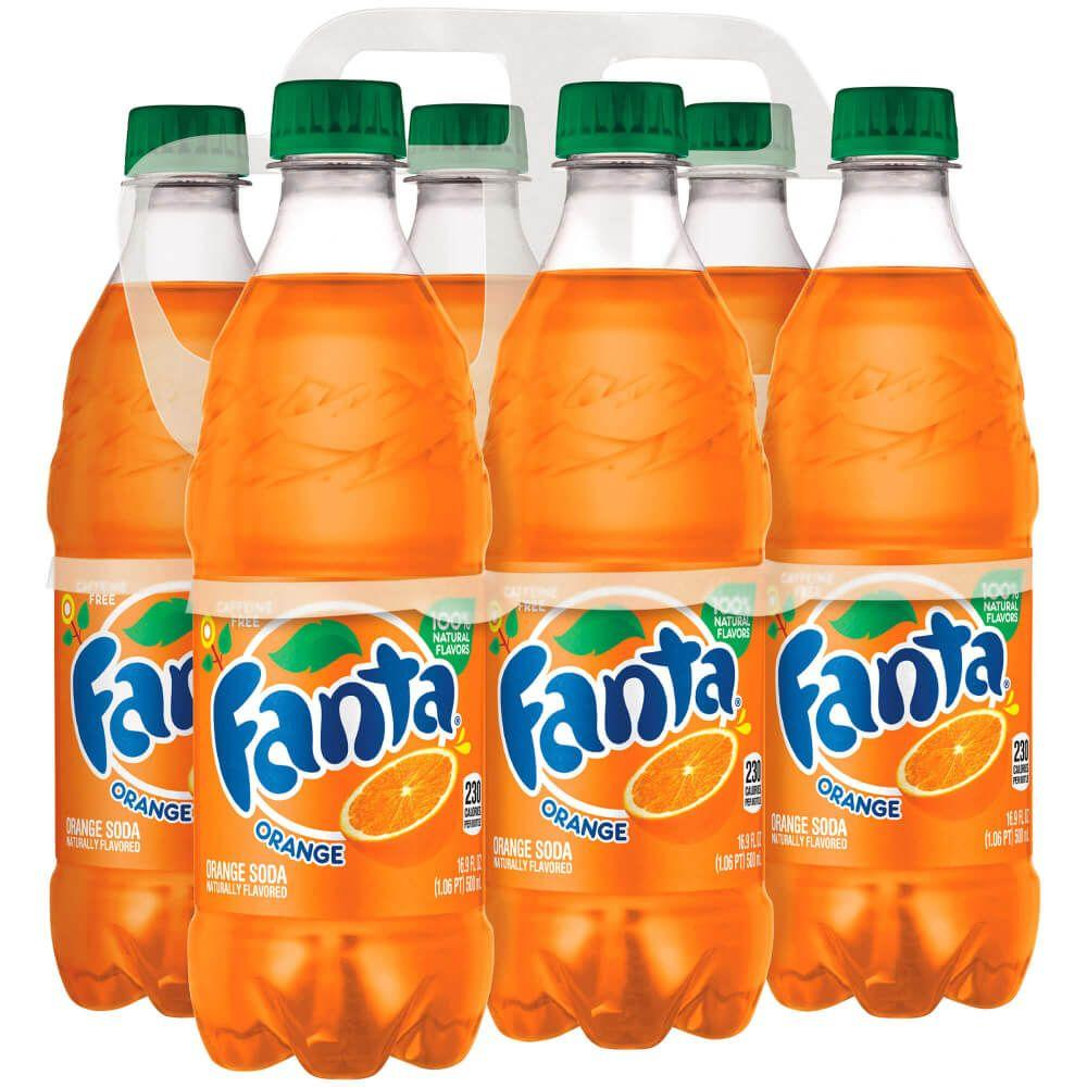 gre>Fanta Orange - 6 pack - Bottles