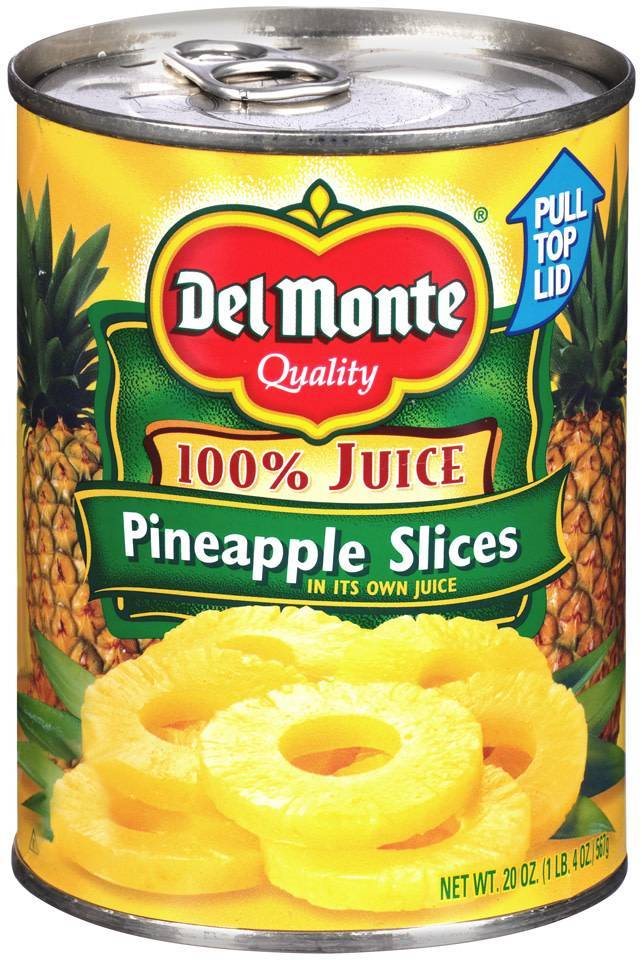 bel>Del Monte Pineapples, Canned