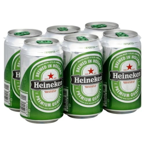 dub>Heineken beer, 6 bottles