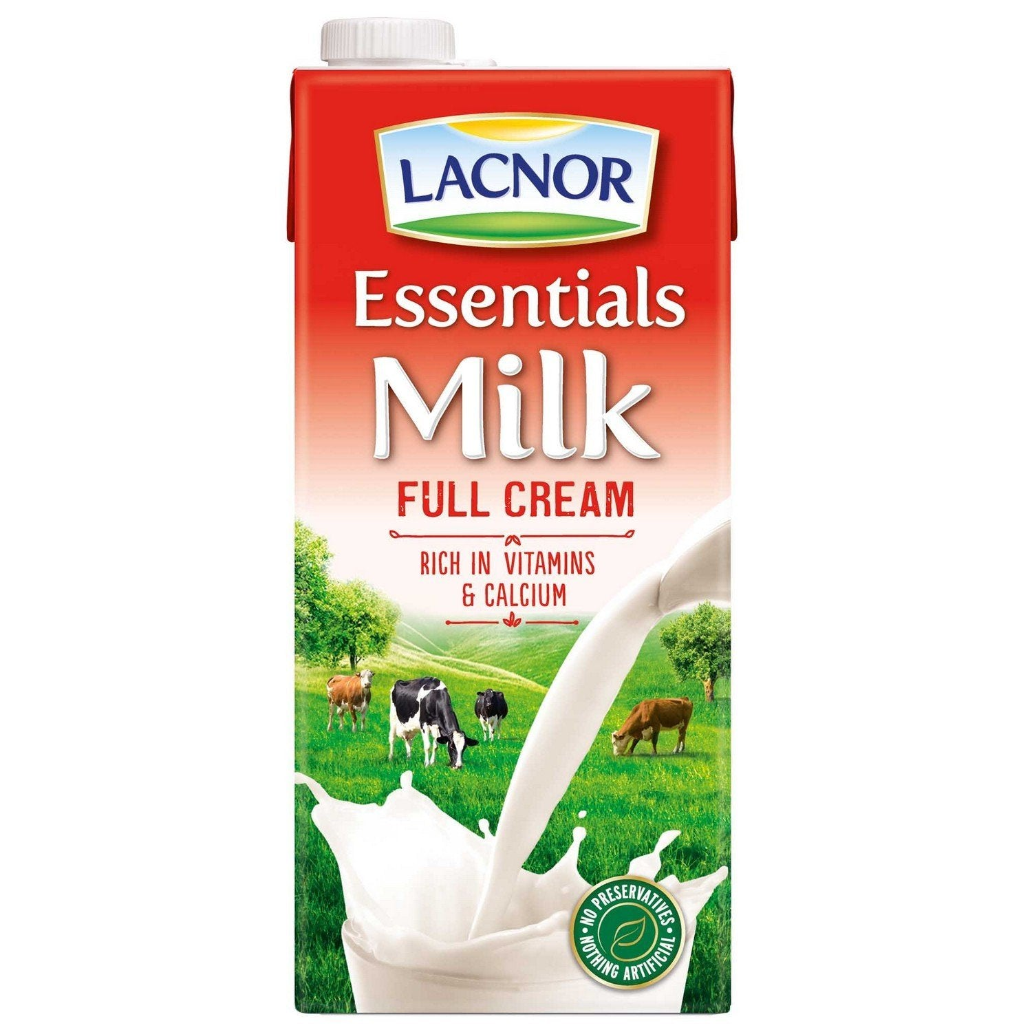 sey>Lacnor/Dutch Lady Milk UHT Full Cream, 1L