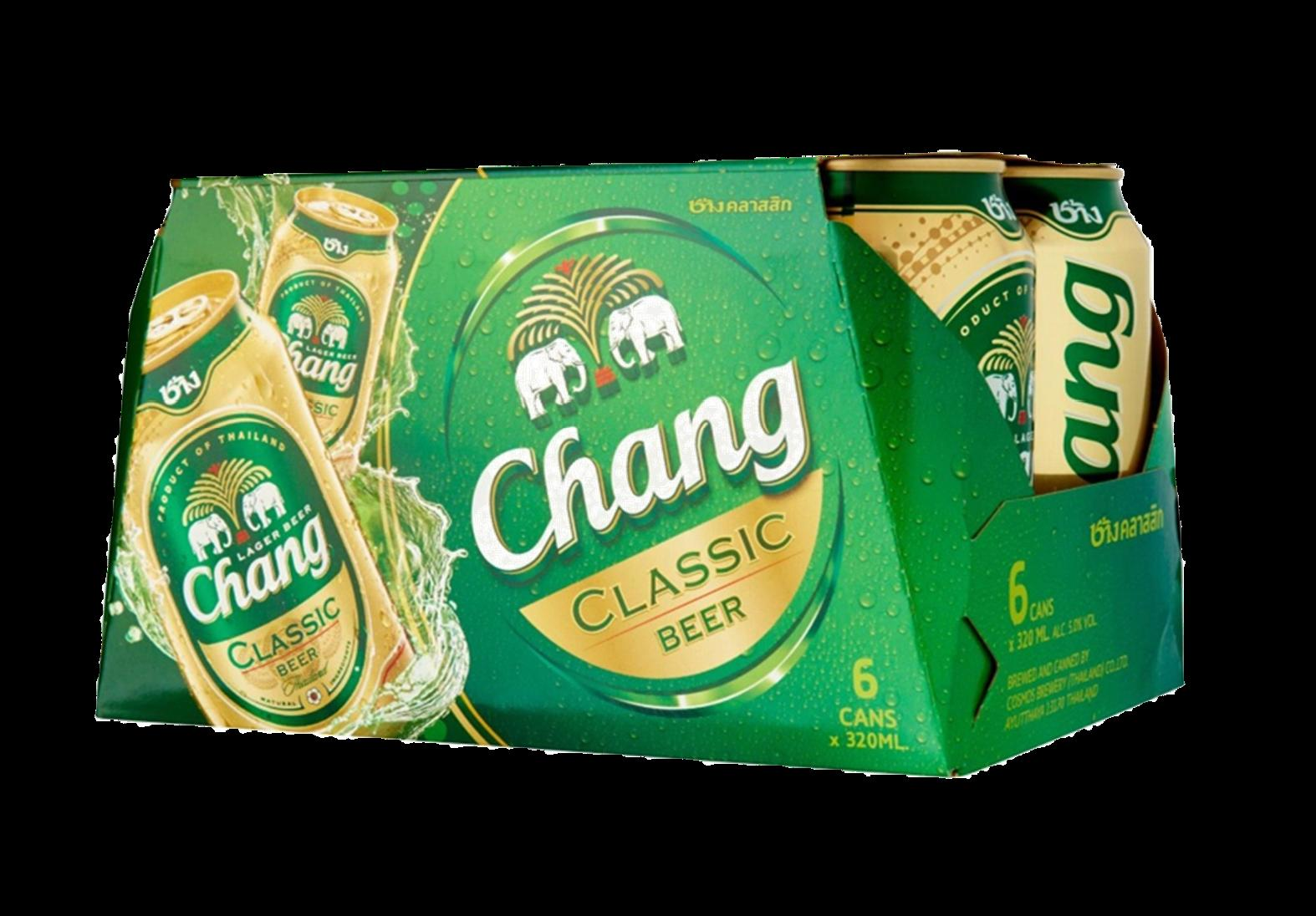 tha>Chang Locally brewed beer 6 x 330 ml cans