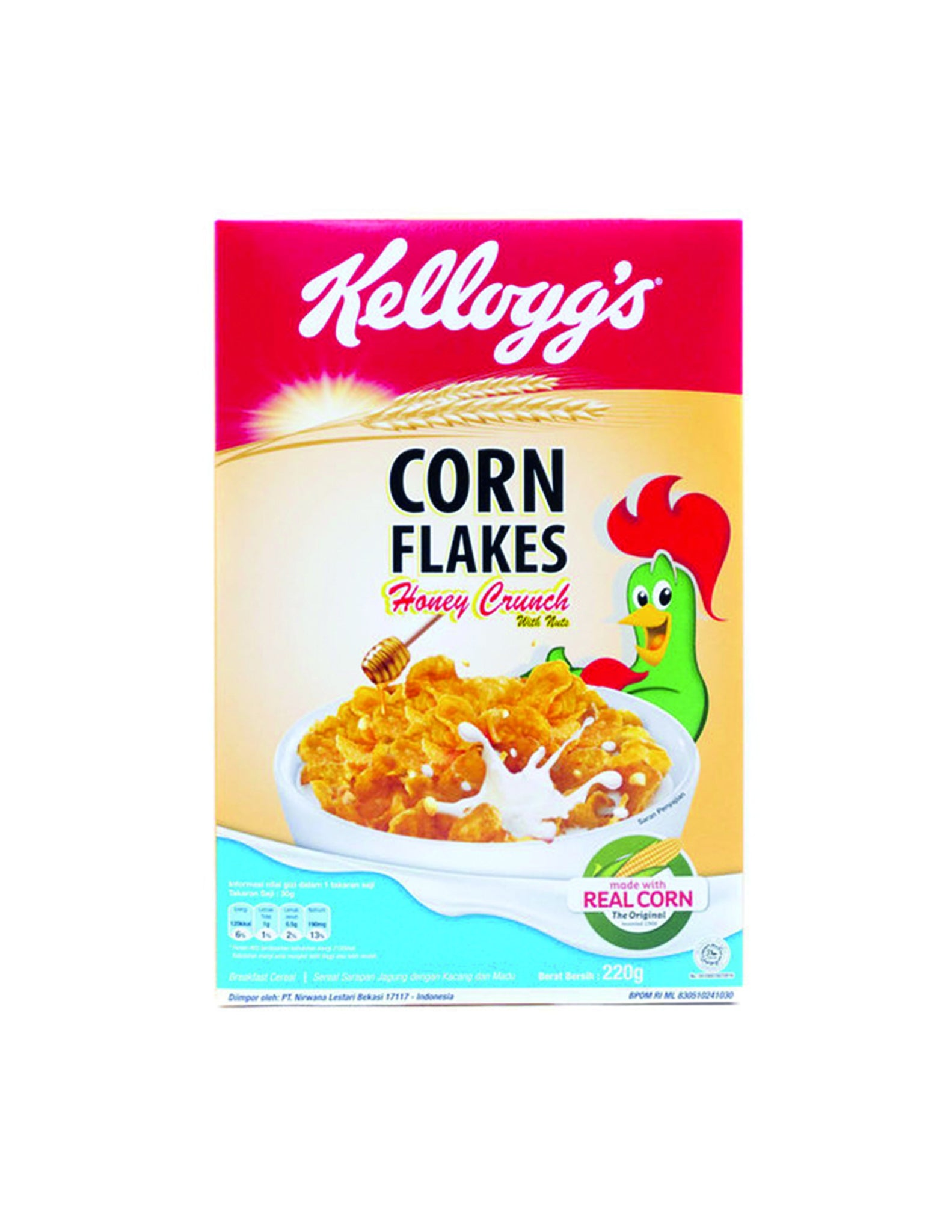 tha>Kellogg's Honey Crunch Cornflakes Cereal 220 gram
