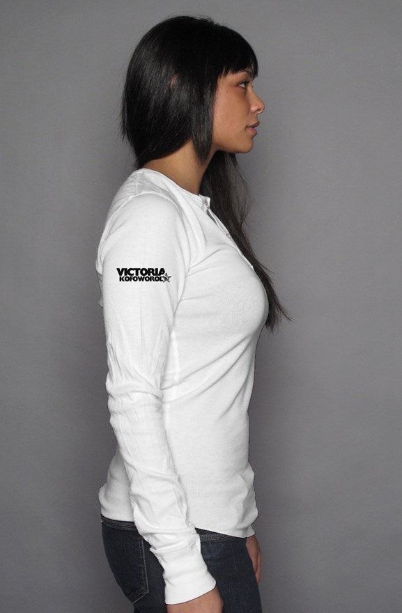 unisex long sleeve henley
