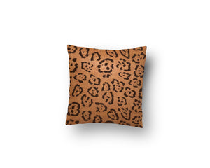 Felt Leopard Pillow Cover