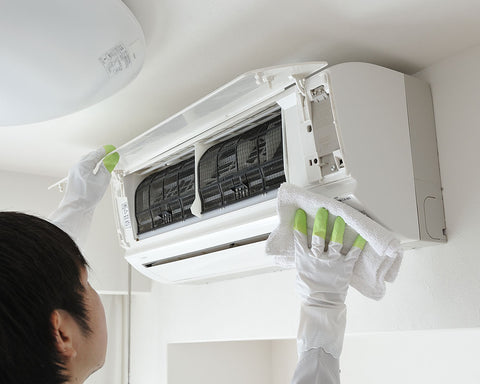 Wipe away visible debris and mold