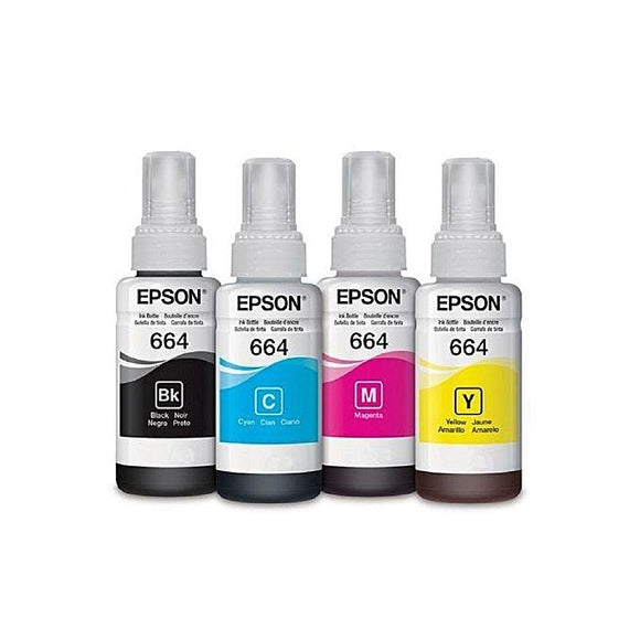 PACK BOUTEILLES D'ENCRE Epson  664 - Original - Black + Cyan + Yellow + Magenta - Consommables