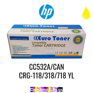 HP CC532A/CAN CRG-118/318/718 YL Jaune