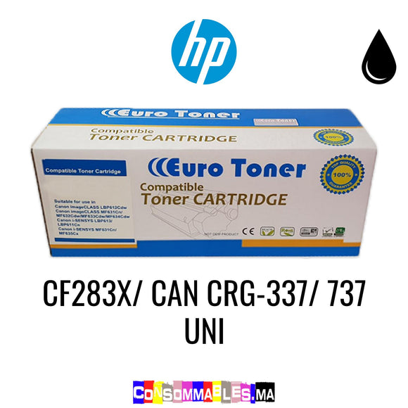 HP CF283X/ CAN CRG-337/ 737 Uni Noir