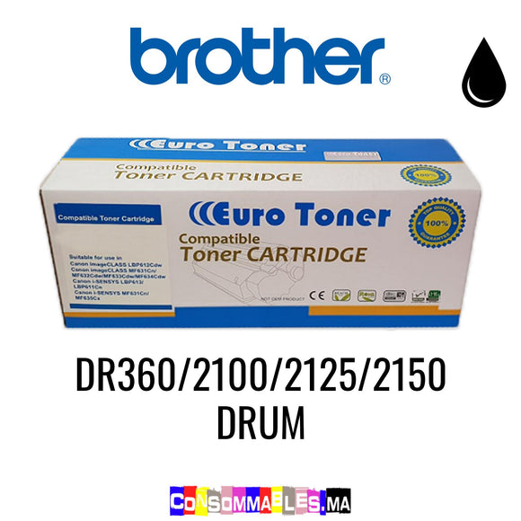 Brother DR360/2100/2125/2150 DRUM Noir