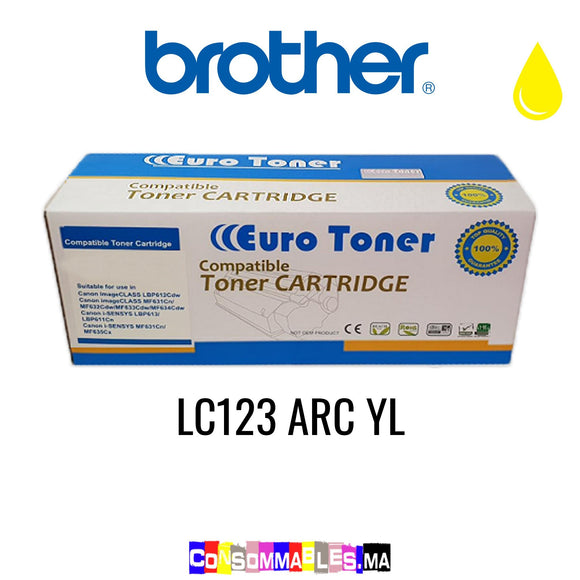 Brother LC123 ARC YL Jaune