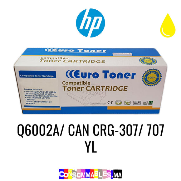 HP Q6002A/ CAN CRG-307/ 707 YL Jaune