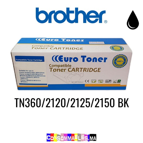 Brother TN360/2120/2125/2150 BK Noir