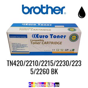 Brother TN420/2210/2215/2230/2235/2260 BK Noir