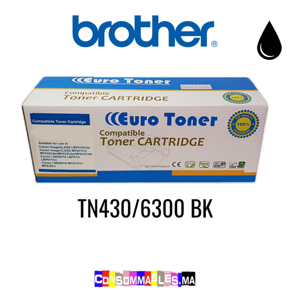 Brother TN430/6300 BK Noir