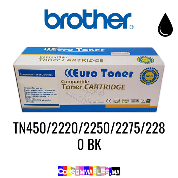Brother TN450/2220/2250/2275/2280 BK Noir