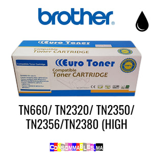 Brother TN660/ TN2320/ TN2350/ TN2356/TN2380 (High Volume) Noir