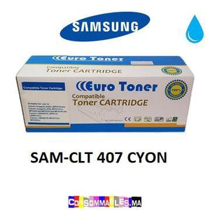 Toner Compatible Samsung CLT 407 CYON - Consommables