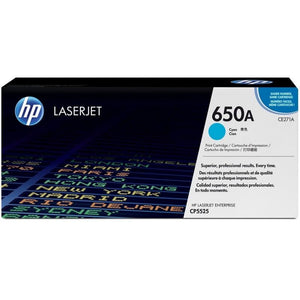 CE271A	HP 650A CYAN ORIGINAL LASERJET TONER CARTRIDGE - Consommables