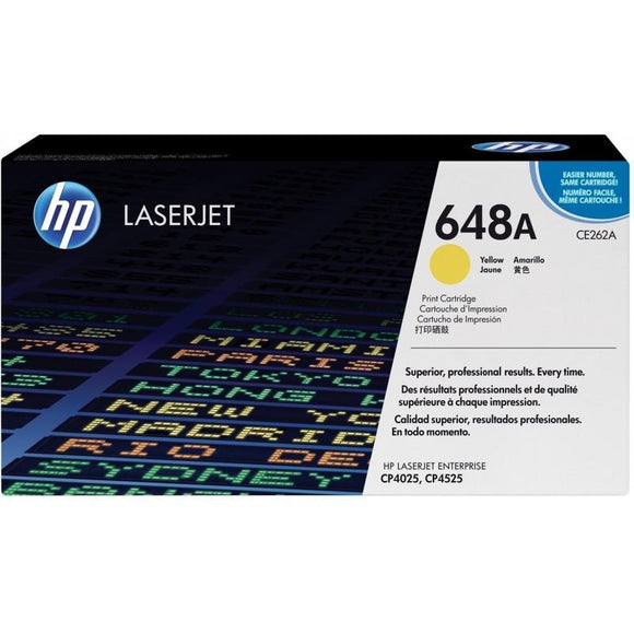 CE262A	HP 648A JAUNE ORIGINAL LASERJET TONER CARTRIDGE - Consommables
