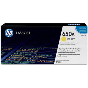 CE272A	HP 650A JAUNE ORIGINAL LASERJET TONER CARTRIDGE - Consommables