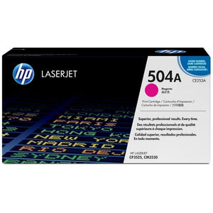 CE253A 	HP 504A MAGENTA ORIGINAL LASERJET TONER CARTRIDGE - Consommables