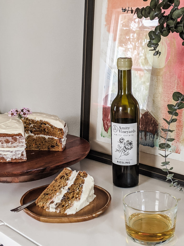 Select Cluster Riesling and Carrot Cake