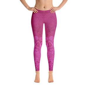 HPN Pink Flower Burn Leggings