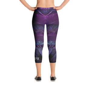 HPN Purple Feather Capri Leggings