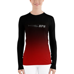 HPN Fade to Red Astar Women's Rash Guard