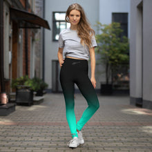 Load image into Gallery viewer, HPN Fade to Sea Foam - AStar Yoga Leggings