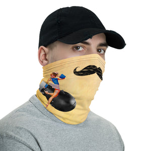 Atomic Lady Pinup Moustache Neck Gaiter