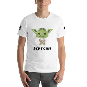 HPN Fly I Can Baby Yoda Short-Sleeve Unisex T-Shirt
