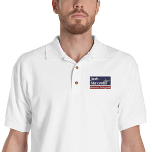 Josh Maxwell Custom Embroidered Polo Shirt