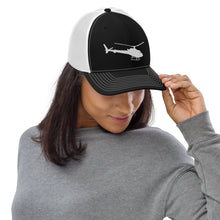 Load image into Gallery viewer, H125 (AStar) Trucker Cap White/Black