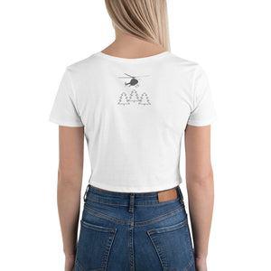 Farm Fresh Christmas Trees Women's Crop Tee